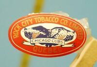 Vintage 1930's Chicago Cubs Rock City Tabacco Co. Ltd. Quebec Canada