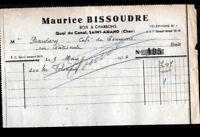 """SAINT-AMAND-MONTROND (18) HOUILLES COKES ANTHRACITES """"Maurice BISSOUDRE"""" en 1954"""