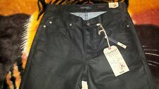 Vintage~Slim Waxed Denim Jeans~Size 30x30~Black