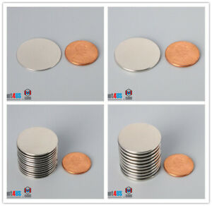"""1"""" dia  N52/N45 25mm SUPER Strong Thin Round Rare Earth Neodymium Disc Magnets"""