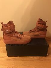 "Nike SF Air Force 1 ""Special Forces"" High  Dusty Peach Suede $180 Size 9.5"