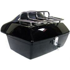 Black Tour Trunk Pack For Harley Softail Dyna Electra Glide Road King Touring