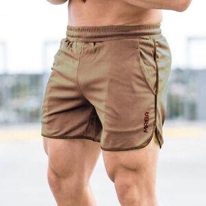 Men's Sports Training Summer Shorts Bodybuilding Workout Fitness GYM Short Pants
