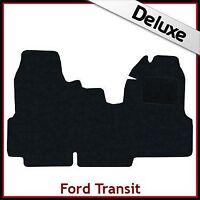 FORD TRANSIT 2006-2013 Double Passenger Seat Tailored LUXURY 1300g Car Mat BLACK