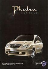 Prospekt / Brochure Lancia Phedra Limited Edition