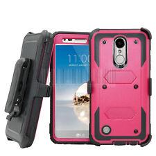 For LG K20 V Plus/K10 2017 Hybrid Holster Case Shockproof Rubber Phone Cover