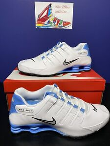 RARE Nike Shox NZ White Silver University Carolina Blue 501524-108 Men's Size 15