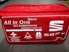 Original SEAT Verbandkasten Verbandtasche Warndreieck Warnweste Verbandstasche