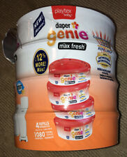 Playtex Diaper Genie Max Fresh Refills Diaper Bags 2 Pack Clean Laundry Scent