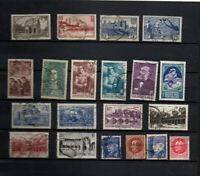 20 timbres oblitérés France années 39/40