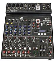Peavey PV 10BT 10 Ch Mixing Desk Studio Mixer + Bluetooth + FX + 2 x Usb Pv10bt