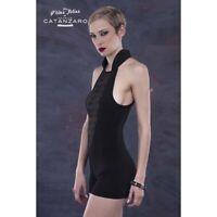 Patrice Cantanzaro CALIE Combishort black fetish LYCRA nightwear Made in France