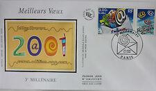 ENVELOPPE PREMIER JOUR - 9 x 16,5 cm - ANNEE 2000 - MEILLEURS VOEUX