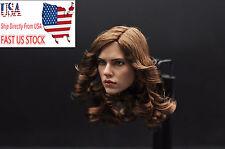 US Shipping 1/6 Scale Black Widow Scarlett Johansson Head Sculpt Carving Figure