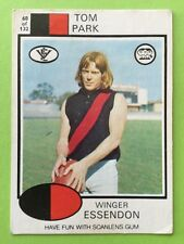 Scanlens 1975 VFL Trading Card 68 Tom Park Essendon Bombers