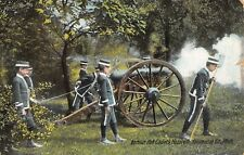 Nazareth Michigan~Barbour Hall Junior Military Academy Cadets Fire Cannon~1913