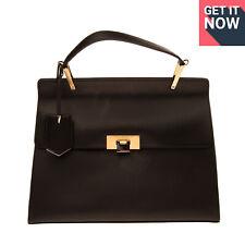 RRP €1505 BALENCIAGA Leather Satchel Bag Top Handle Flip Lock Flap Made in Italy