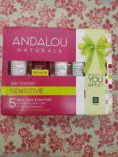 Andalou Naturals Sensitive Get Started 5 Skin Care Essentials *NEW*