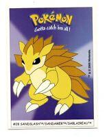 Pokémon Gotta catch'em all n° 28 - SANDSLASH - SANDAMER - SABLAIREAU  (A4718)