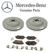 For Mercedes Benz W222 C217 Rear Vented Brake Discs Rotors+Pads Set Kit Genuine