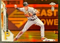 2020 Topps Chrome Ben Baller Kevin Newman #98 Orange Refractor 01/25 Pirates