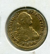 1808  SPAIN JF P 1 ESCUDO COLLECTOR BUST COLONIES GOLD COIN - 3.4 GRAMS