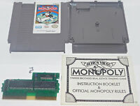 Monopoly Nintendo Entertainment NES Game System with original Manual Book Nice