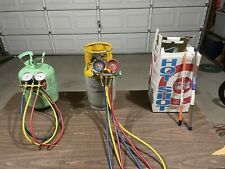 Lot Of 7 Hvac Supplies R 22 Hot Shot Gauges Recycling Tank And More