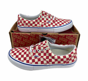 NEW Vans Era Pro Checkerboard UltraCush Red White Blue Shoes Sneakers Mens Sz 12