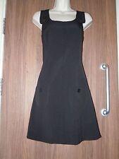 NEW LOOK Sleeveless Dress Pinafore - Black - UK 12