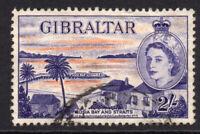 Gibraltar 2/- Stamp c1953-59 Used (6655)