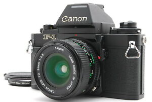Near MINT/ Canon NEW F-1 AE Finder + NEW FD 24mm F2.8 from Japan #1437