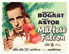 THE MALTESE FALCON LOBBY TITLE CARD POSTER 1941 HUMPHREY BOGART MARY ASTOR
