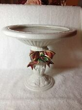 "Fitz And Floyd Retired Aegean Christmas Center Piece 9""h. x10.5"" Top Bowl"
