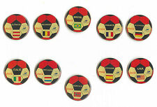 1998 WORLD CUP COCA COLA COUNTRY FLAGS PINS ON SOCCER BALL NEW IN BAGS