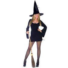 Disfraz De Halloween Sexy Negro atada Bruja Talla 8-12