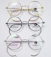40mm 42mm 44mm Antique Vintage Round Wire Rim Eyeglass Frames Spectacles Rx 2012