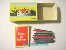 MULINO BIANCO scatolina anni '80_ I GIOCHI DEI BASTONCINI (sorpresina 17)