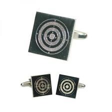 Range Target Engraved Cufflinks Bullseye Archery Shooting Present Gift Box