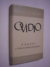 """Ovidio: I FASTI, """"Poeti di Roma"""" Zanichelli 1961, letteratura latina"""