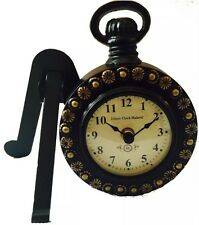 Attractive Handmade Table Clock Watch Mantel Piece Decor Iron Stand