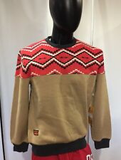 Rolling paper collectables  mens Sweater Pullover Beige/red/blue Size Large