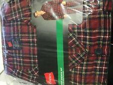 Hanes Red Plaid 2 Piece Flannel Pajamas Sleep Set