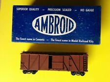 5 Stck US Güterwagen HO, Holz, Main Line und AMBROID, ca. 60er Jahre, Box