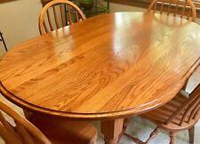 Pennsylvania Dutch Amish Oak Table And Four Oak Chairs.Beautiful