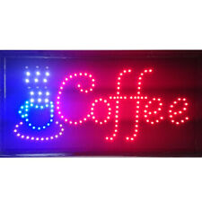Animated Motion Led Cafe Coffee Business Sign On Off Swith Light Neon Display
