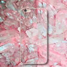 Handy Schutzhülle Rosa Diamant Stein Schlank Stoßfest Cover Für iPhone Samsung