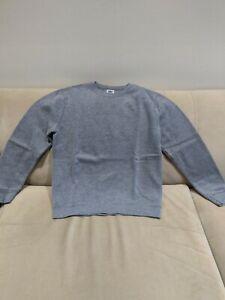 ATHLETIC WORKS Boys' Gray Cotton Blend Long Sleeve Sweatshirt, size 10/12