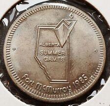 1985 Fort McMurray Alberta $1 Trade Token - Alberta Summer Games