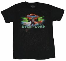 Guardians of The Galaxy Star Lord Black T-Shirt Marvel Licensed Size Large New